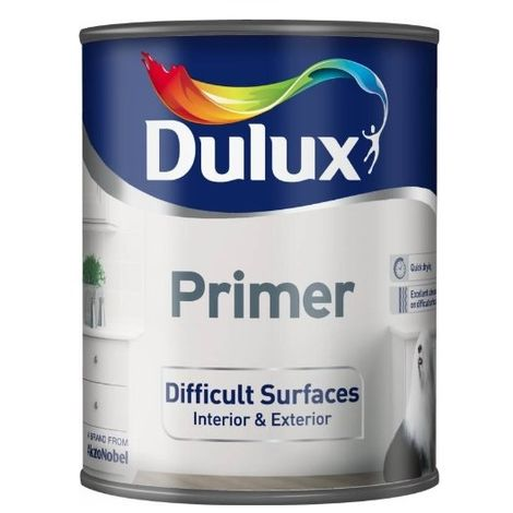 Dulux Difficult Surfaces Primer - 750ml - Interior And Exterior Use