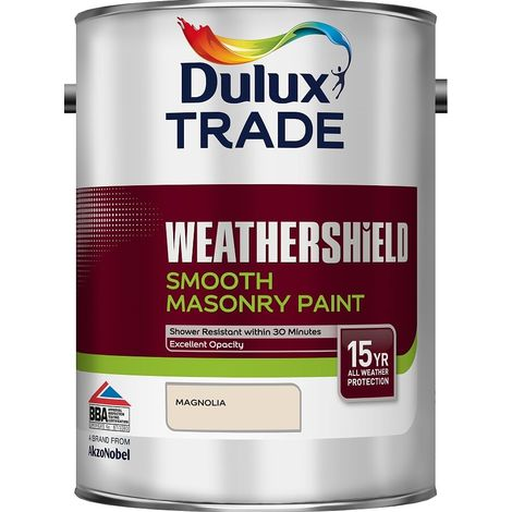 Dulux Trade Weathershield Smooth Magnolia 5 Litres