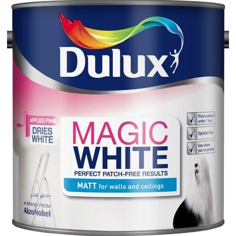 Dulux Magic White Matt - Pure Brilliant White - 2.5L