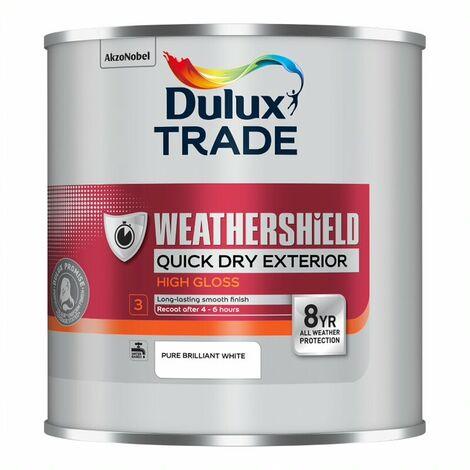 Dulux Trade Weathershield Quick Dry Gloss Pure Brilliant White 1L