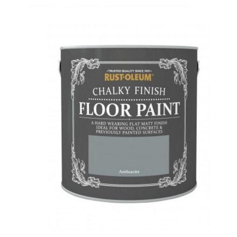 Rust-Oleum Chalk Chalky Floor Paint - Anthracite - 2.5L