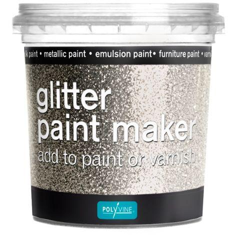 Polyvine - Glitter Paint Maker - Silver - 75g for 2.5 Litre