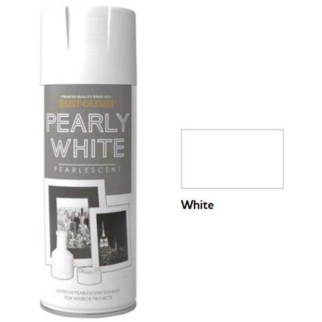 Rust-Oleum Pearlescent Spray Aerosol Paint - 400ml - Pearly White
