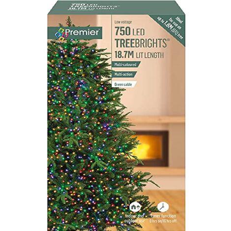 Premier Multi Action TreeBrights - Cluster Tree Lights - 750 LED - Multi Colour