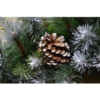 Frosted Glacier Christmas Wreath with Pine Cones - 60cm - 140 Tips