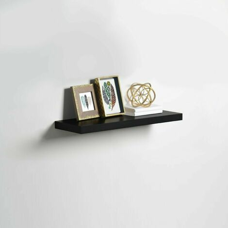 High Gloss Wall Floating Shelf-60CM BLACK