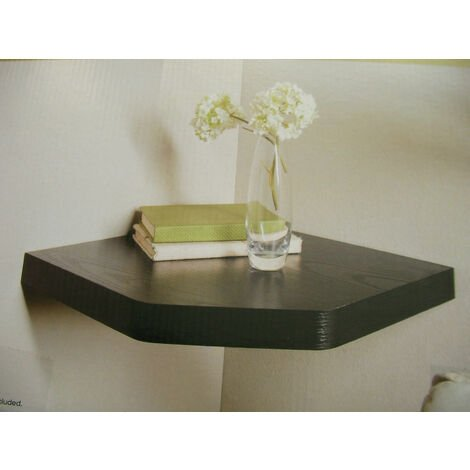 Floating Wall Corner Shelf - Black