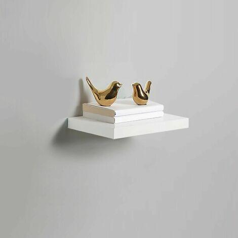 High Gloss Wall Floating Shelf-30CM WHITE