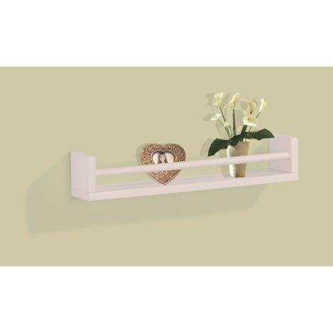 Floating Wall Mounted Single Shelf - White