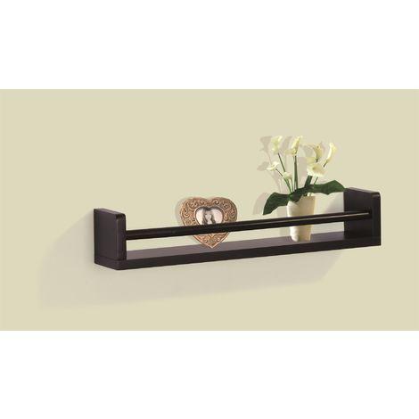 Floating Wall Mounted Single Shelf - Black