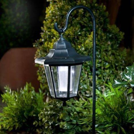 Solar Powered LED Shepherd Hanging Lantern Garden Decoration