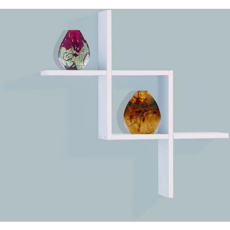 Cubex Shape Floating Wall Shelf - White