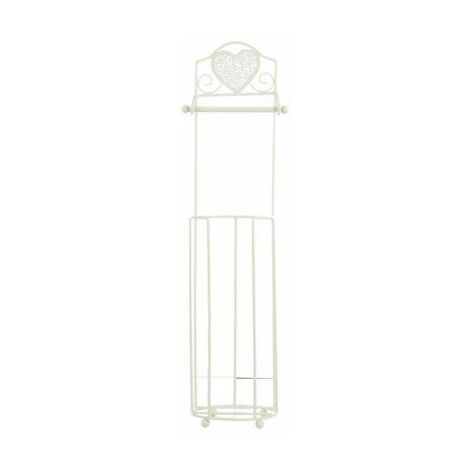 Heart Detailed Vintage Style Toilet Roll Stand With 3 Rolls Storage-328644