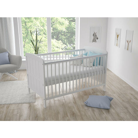 White Maddox Convertible Cot Bed 140 x 70cm