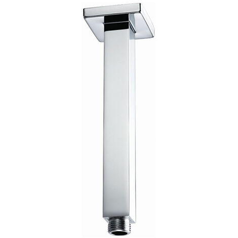 Bristan Square Ceiling Mounted Shower Arm, 200mm Length, Chrome