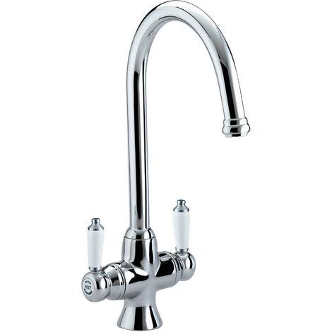 Bristan Renaissance EasyFit Mono Kitchen Sink Mixer Tap, Dual Handle, Chrome