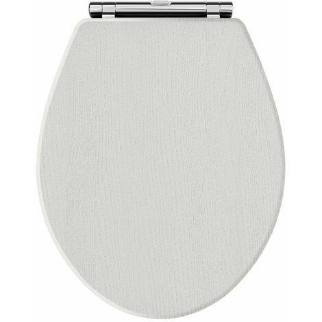 Hudson Reed Richmond Soft Close Toilet Seat Chrome Hinges - Timeless Sand