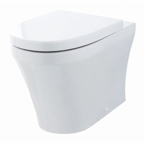 Hudson Reed Luna Back To Wall Pan 555mm Projection - Soft Close Seat