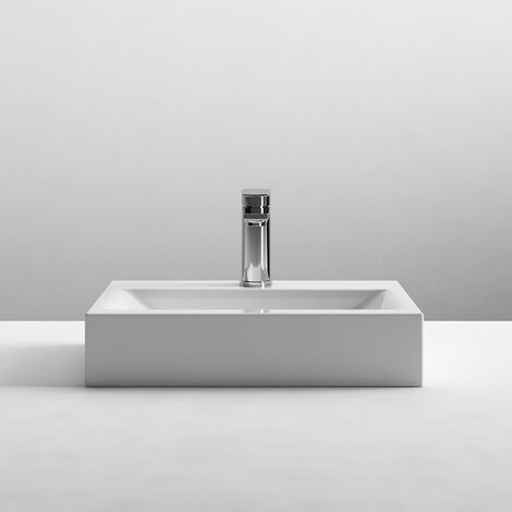 Nuie Cubix Washstand Vessels Rectangular Countertop Basin 460mm Wide - 1 Tap Hole