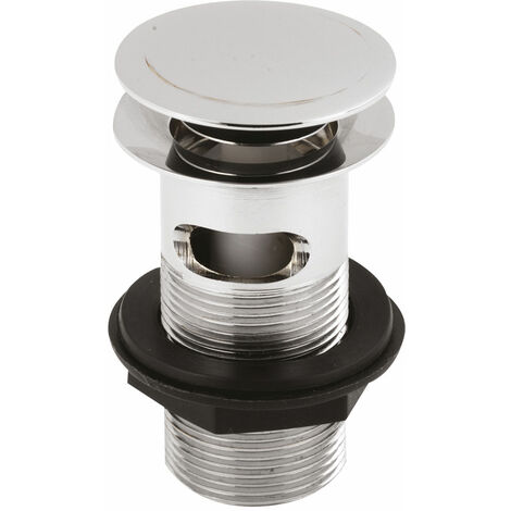 Nuie Push Button Basin Waste Chrome - Slotted