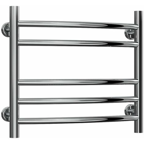 Reina Eos Curved Heated Towel Rail 430mm H x 500mm W Polished Stainless Steel