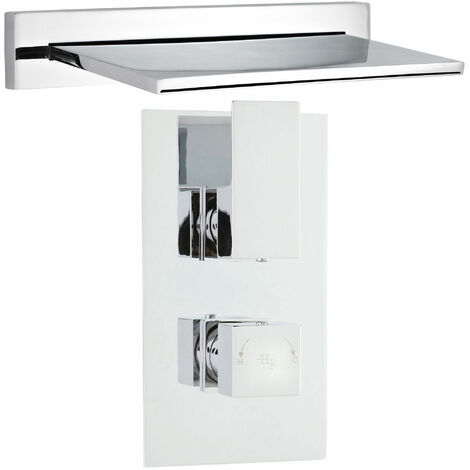 Hudson Reed Waterfall Bath Filler Spout with Concealed Shower Valve - Chrome