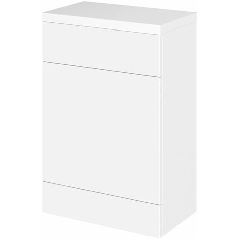 Hudson Reed Fusion WC Unit with Polymarble Worktop 600mm Wide - Gloss White
