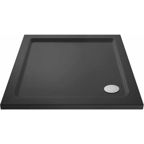 Hudson Reed Square Shower Tray 700mm x 700mm - Slate Grey