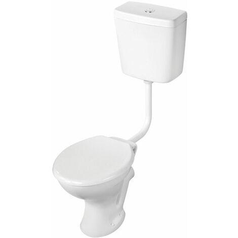 Armitage Shanks Sandringham 21 Low Level Toilet WC Push Button Cistern - Hardwearing Seat