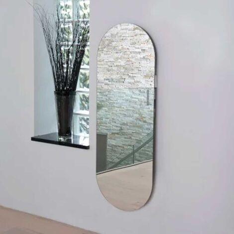 Heatwave Vetro Electric Glass Radiator Soap 1380mm H x 500mm W - Mirror