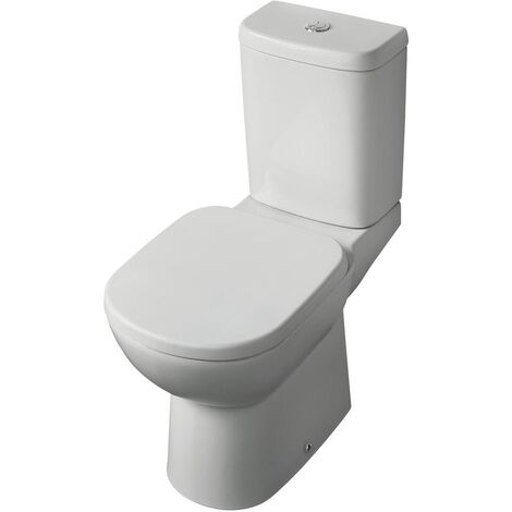 Ideal Standard Tempo Close Coupled Toilet with 6/4 Litre Push Button Cistern - Standard Seat