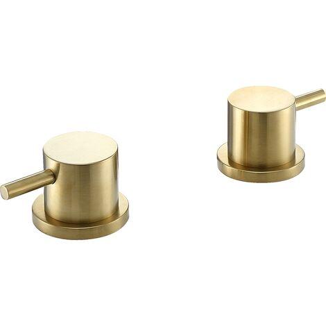 JTP Vos Deck Panel Valves Pair - Brushed Brass