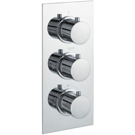 JTP Round Thermostatic Concealed 3 Outlets Shower Valve - Chrome