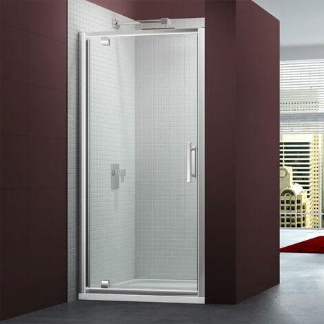 Merlyn 6 Series Pivot Shower Door 700mm Wide - Clear Glass