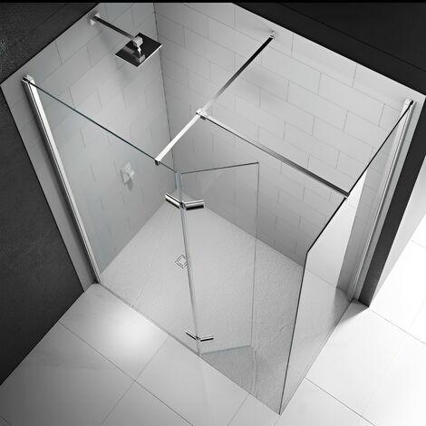 Merlyn 8 Series Hinged Walk-In Shower Enclosure, 1400mm x 800mm, 8mm Glass