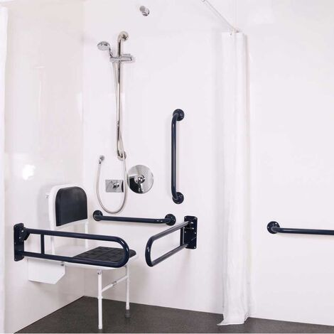Nymas NymaPRO Doc M Shower Pack White with Concealed Valves and Polished Rails