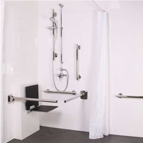 Nymas NymaSTYLE Doc M Shower Pack with Exposed Valves and Slimline Seat - Satin