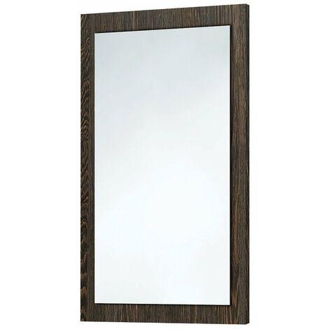Orbit Wood Frame Bathroom Mirror 800mm H x 500mm W - Dark Oak