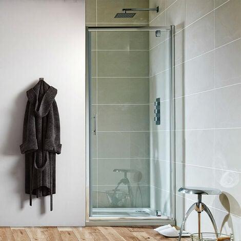 Orbit A6 Pivot Shower Door 700mm Wide - 6mm Glass