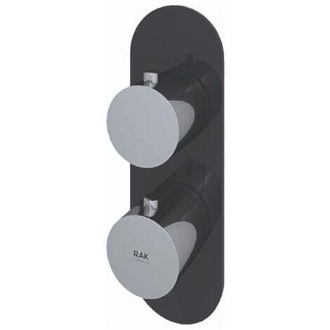 RAK Feeling Thermostatic Round Single Outlet Concealed Shower Valve - Black