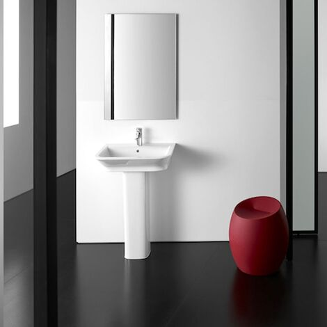 Roca The Gap Basin and Full Pedestal, 500mm Wide, 1 Tap Hole