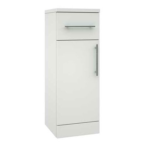Verona Bianco 1-Door Storage Unit 300mm Wide - Gloss White