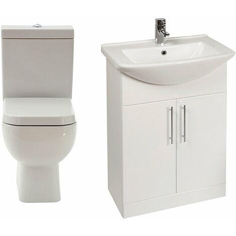 Verona Series 600 Furniture Bathroom Suite with Vanity Unit - 550mm Wide