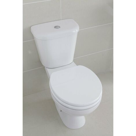 Verona Access Close Coupled Toilet WC Push Button Cistern - Standard Seat