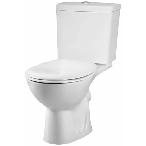 VitrA Layton Close Coupled Toilet WC Push Button Cistern - Standard Seat