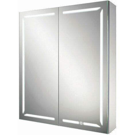 HiB Groove 60 Illuminated Bluetooth Bathroom Cabinet 700mm H X 600mm W