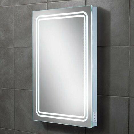 HiB Rotary Demistable LED Bathroom Mirror 700mm H x 500mm W