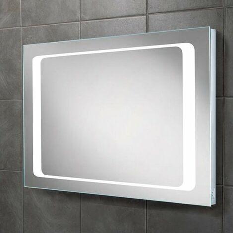 HiB Axis Demistable LED Bathroom Mirror 600mm H x 800mm W