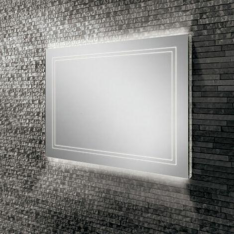 HiB Outline 80 LED Back-Lit Bathroom Mirror 600mm H x 800mm W