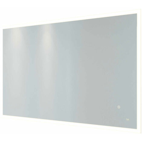 RAK Cupid Landscape LED Mirror with Switch and Demister Pad 600mm H x 1000mm W Illuminated